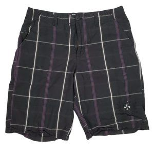 NSS Men's Black & Purple Chino Short Size 36